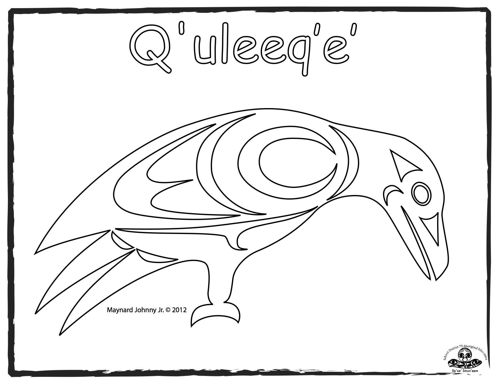 crow-quleeqe-outline