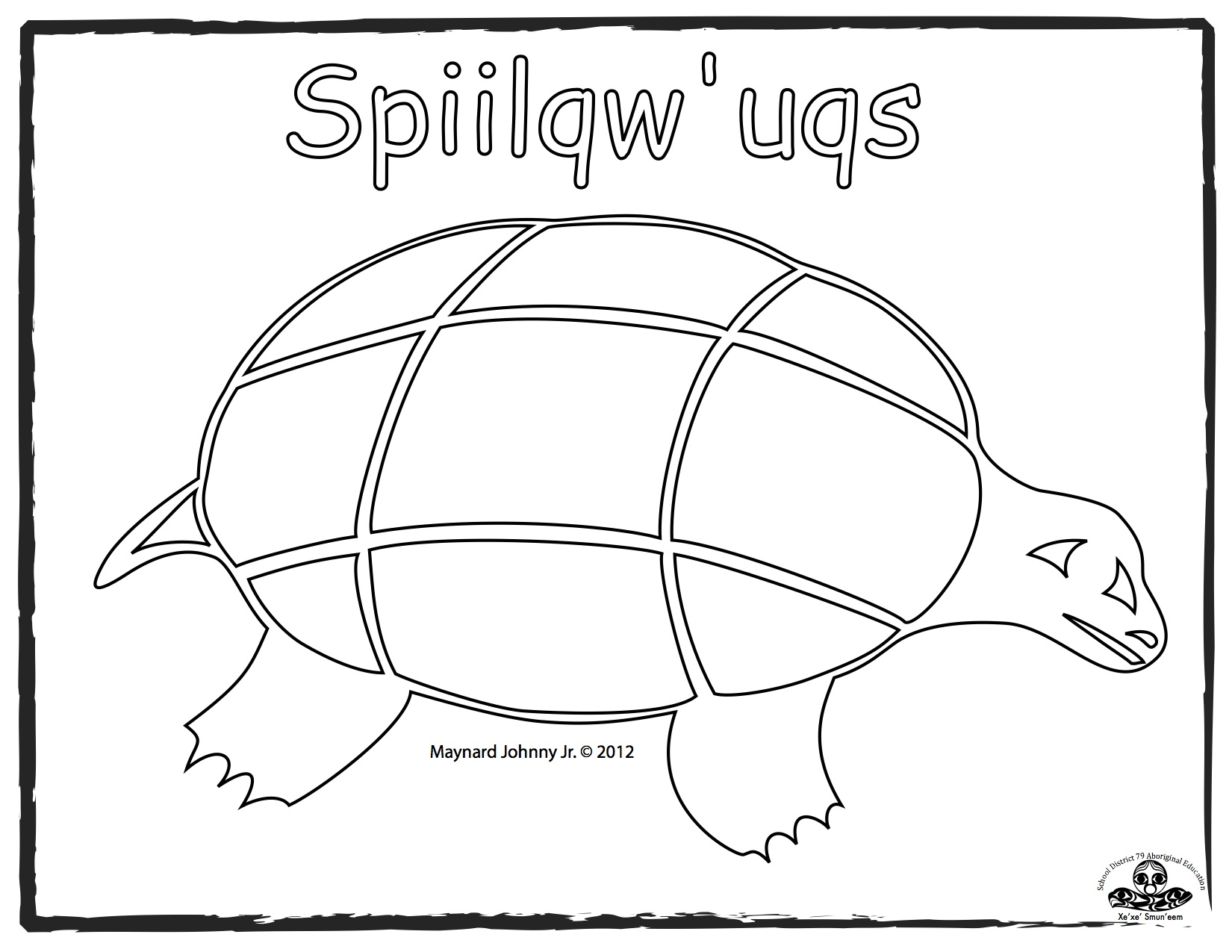 turtle-sqiilqwuqs-basic-outline